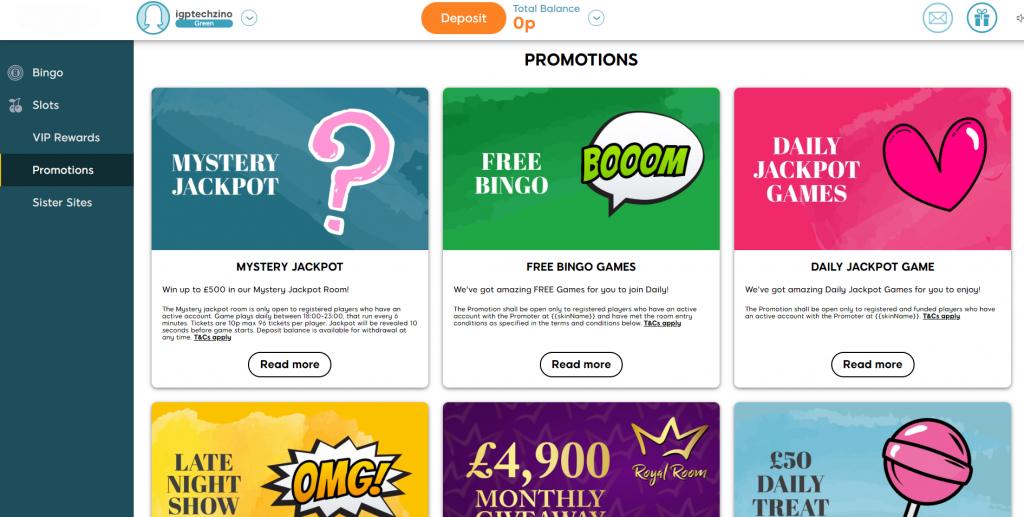 Online Bingo Promotions