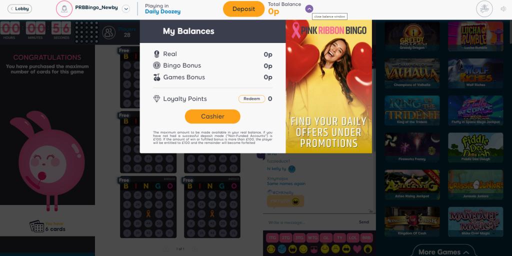 Online Bingo Deposit or Withdrawals - Bingo Guide